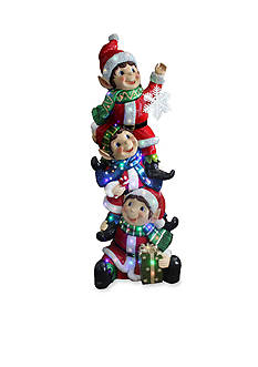 National Tree Company Stacking Elves