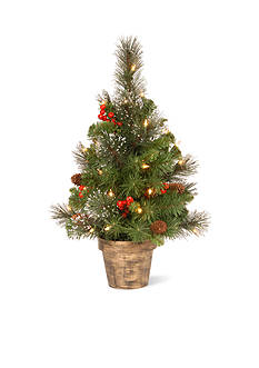 National Tree Company Crestwood Spruce Entrance Tree With Lights