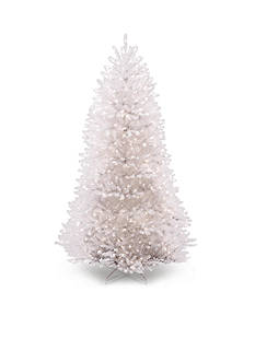 National Tree Company 7.5-ft. Dunhill Fir White Hinged Tree