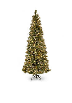 National Tree Company 7.5-ft. Glittery Bristle Pine Slim Hinged Tree