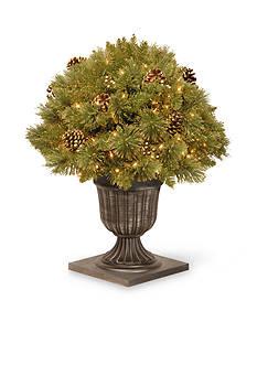 National Tree Company Glittery Pine Gold Porch Bush