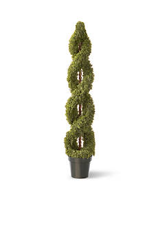 National Tree Company® Double Cedar Spiral with Green Pot