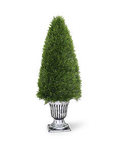 National Tree Company® Upright Juniper Tree In A Silver Urn