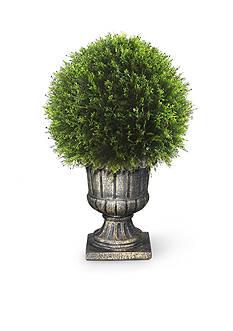 National Tree Company Upright Juniper Ball Topiary Tree In A Decorative Urn