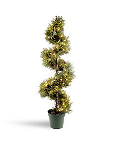 National Tree Company® Upright Juniper Spiral Tree with Green Growers Pot with 150 Clear Lights