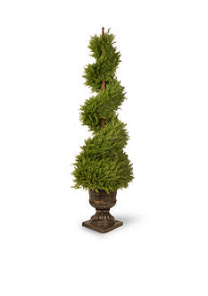 National Tree Company Juniper Spiral Tree With Decorative Urn