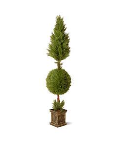 National Tree Company JUNIPER CONE & BALL TOPIARY W/ SQUARE POT
