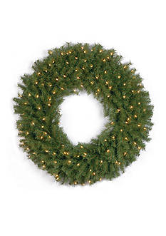 National Tree Company Norwood Fir Wreath With 100 Clear Lights