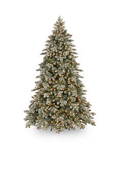 National Tree Company 7.5-ft. Frosted Colorado Spruce Hinged Tree