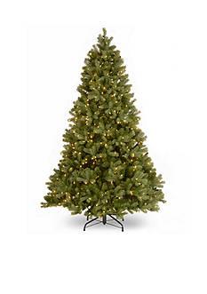 National Tree Company Feel Real Downswept Douglas Fir Hinged Tree with LED Lights