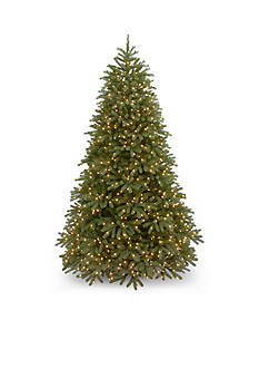 National Tree Company Feel Real Jersey Frasier Fir Hinged Tree With Lights