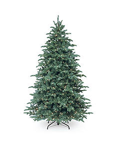 National Tree Company Feel Real Mountain Noble Spruce Hinged Tree With Lights