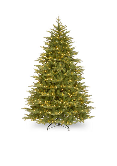 National Tree Company® Feel Real Nordic Spruce Medium Hinged Tree With Lights