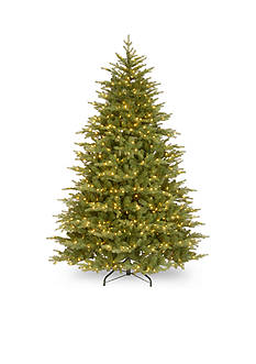 National Tree Company Feel Real Nordic Spruce Medium Hinged Tree With Lights