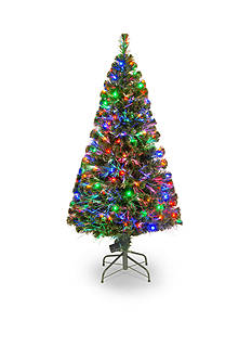 National Tree Company 5-ft. Fiber Optic Evergreen Tree
