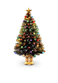 National Tree Company 4-ft. Fiber Optic Fireworks Red, Green, Blue & Gold Inner Ornament Tree