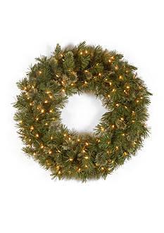 National Tree Company Wispy Willow Wreath With Lights
