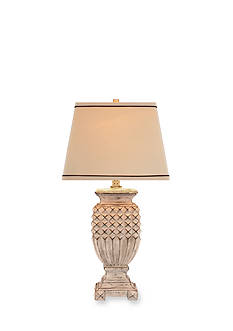 CATALINA LIGHTING White Washed Table Lamp