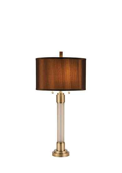 CATALINA LIGHTING Crackle Glass Cylinder Table Lamp