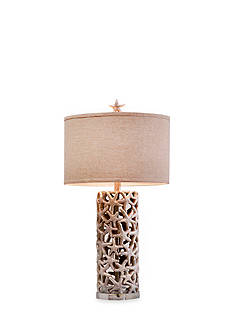 CATALINA LIGHTING Silver Starfish Table Lamp