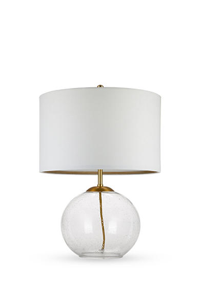 Cupcakes And Cashmere Clear Seeded Glass Table Lamp Belk