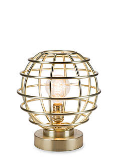 Evolution Lighting, LLC Antique Brass Metal Cage Accent Lamp