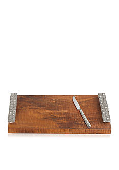 MICHAEL WAINWRIGHT Truro platinum wood cheese tray/knife