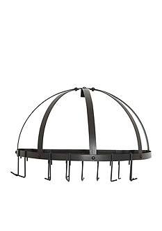 Old Dutch International, Ltd. Medium Gauge Half-Round Pot Rack with Grid & 12 Hooks