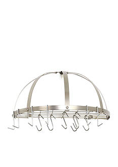 Old Dutch International, Ltd. Medium Gauge Half-Round Pot Rack with Grid & 12 Hooks