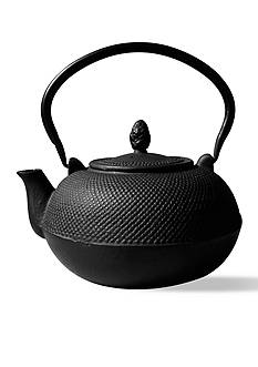 Old Dutch International, Ltd. Matte Black Cast Iron Hakone Teapot/Wood Stove Humidifier