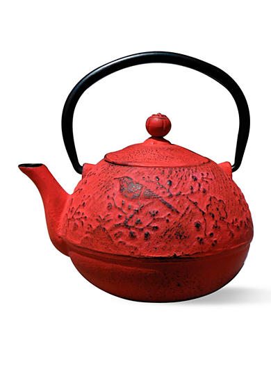 Old Dutch International, Ltd. Unity Bird Red Cast Iron Suzume Teapot