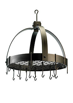 Old Dutch International, Ltd. Dome Hanging Pot Rack with Grid & 16 Hooks