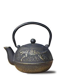 Old Dutch International, Ltd. Matte Black Cast Iron Tora Teapot, 22-oz.