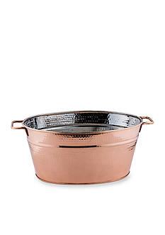 Old Dutch International, Ltd. Hammered Decor Copper Oval Beverage Tub