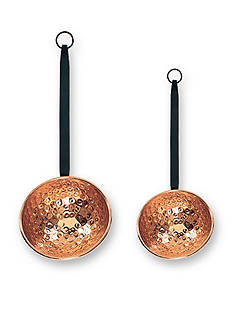 Old Dutch International, Ltd. Hammered Decor Copper Ladles w/Wrought Iron Handles, Set of 2