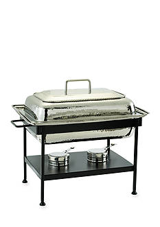 Old Dutch International, Ltd. Polished Nickel over Stainless Steel Rectangular Chafing Dish, 8-qt