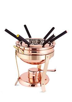 Old Dutch International, Ltd. Decor Copper and Brass Fondue Set With 6 Forks
