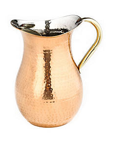 Old Dutch International, Ltd. Decor Copper Hammered Red Water Pitcher