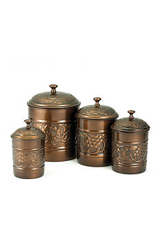 Old Dutch International, Ltd. 4-Piece Antique Heritage Copper Canister Set