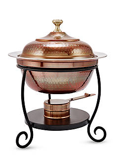Old Dutch International, Ltd. Antique Copper Round Chafing Dish, 1.75-qt.