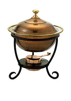 Old Dutch International, Ltd. Antique Copper over Stainless Steel Round Chafing Dish