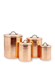Old Dutch International, Ltd. 4-Piece Copper Hammered Canister Set