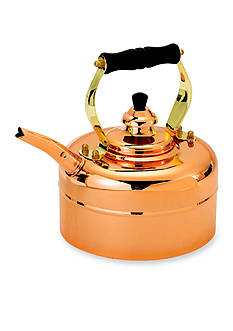 Old Dutch International, Ltd. Copper Windsor Whistling Tea Kettle w/ Wood Handle