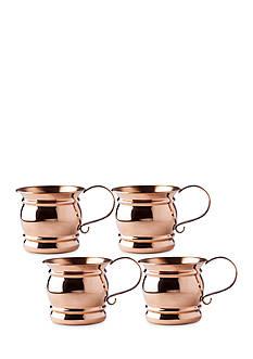 Old Dutch International, Ltd. Solid Copper Moscow Mule Mugs w/ Flat Handle, 16-oz., Set of 4