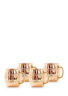 Old Dutch International, Ltd. Solid Copper Barrel Mule Mugs, 16-oz, Set of 4