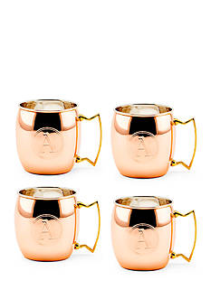 Old Dutch International, Ltd. Solid Copper Moscow Mule Mugs, Set of 4 - Monogram A