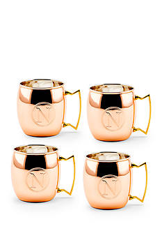 Old Dutch International, Ltd. Solid Copper Moscow Mule Mugs, Set of 4 - Monogram N