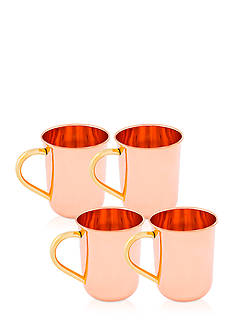 Old Dutch International, Ltd. Solid Copper Straight Sided Moscow Mule Mugs, Set of 4