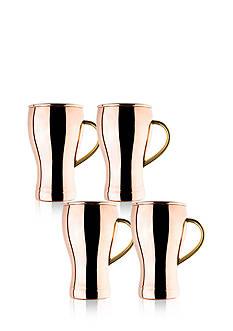 Old Dutch International, Ltd. Solid Copper Soda Fountain Style Moscow Mule Mugs, Set of 4
