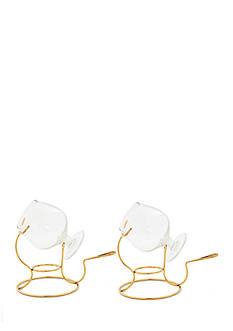 Old Dutch International, Ltd. Brandy Warmers w/Tealight & Glass Snifter, Set of 2